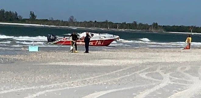 A twenty-five-foot commercial towing vessel capsized near Sand Dollar Island on Marco Island on Dec. 8, 2020.