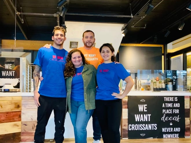 Fresh Baked café is a family-owned business. Pictured are, from left, Gene Betances, Jennifer Betances, Brice Mazetto and Christina Childers.