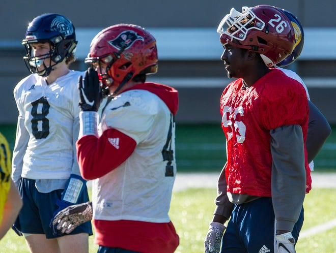 Handley's Dylan Brooks (26) during the Alabama All-Star team practice at Cramton Bowl in Montgomery, Ala., on Wednesday, Dec. 9, 2020.