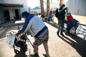 Justa Center is a day center in Phoenix for people aged 55 and over who are experiencing homelessness. More than 200 seniors experiencing homelessness died on the streets of Maricopa County in the first 9 months of 2020.
