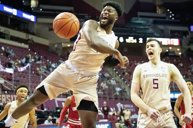 Florida State forward Raiquan Gray against Indiana Hoosiers December 9, 2020