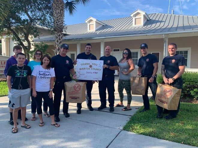 The group started feeding deputies, firefighters and other first responders around Easter and have continued to feed the groups since.