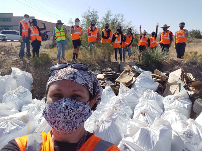 Candace Printz, assistant director of fine arts for the Socorro Independent School District, helps fight littering in the community. She has taught students the importance of protecting the environment.