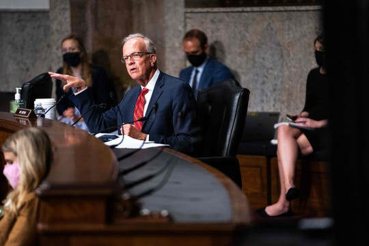 Senator Jerry Moran, R-KS speaks during a hearing with the Senate Appropriations Subcommittee on Labor, Health and Human Services, Education, and Related Agencies, on Capitol Hill in Washington DC on September 16th, 2020.