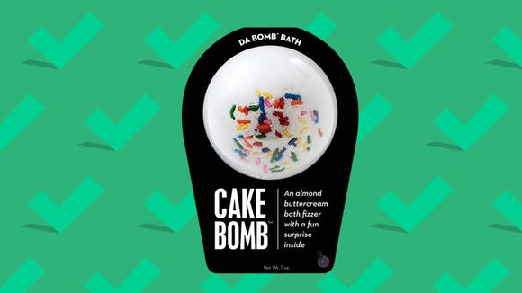 Best gift for wives 2020: Da Bomb Cake Bath Bomb.