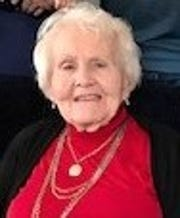 Margaret Lee Inloes pictured on her 95th birthday. Inloes died of coronavirus on Nov. 6, 2020, after getting infected at the Gove County nursing home.