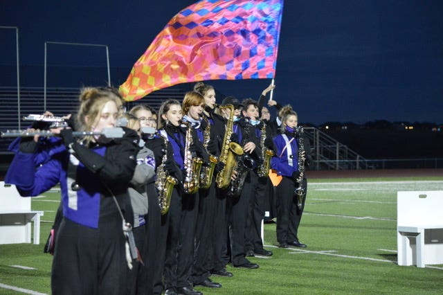 The Canyon band performs for a community send-off to state on Thursday, Dec. 10.