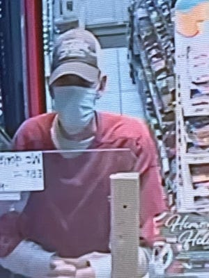 Surveillance footage from an alleged armed robbery at a Lone Grove gas station in December. The suspect was identified and taken into custody over the weekend.