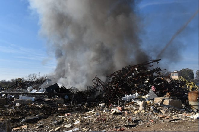 Augusta Fire Crews responded to a fire at SA Recycling off Old Savannah Road.