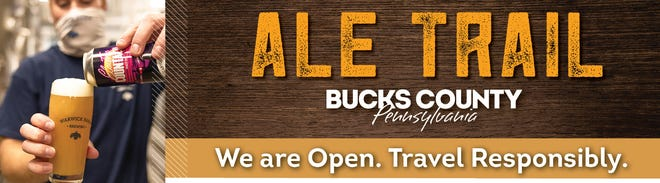 A digital billboard display highlights Bucks County as a tourist designation for those who want to visit breweries.  The advertisement was designed before Gov. Tom Wolf issued an order closing all bars and restaurants from Dec. 12 to Jan. 4 dur  to the pandemic.