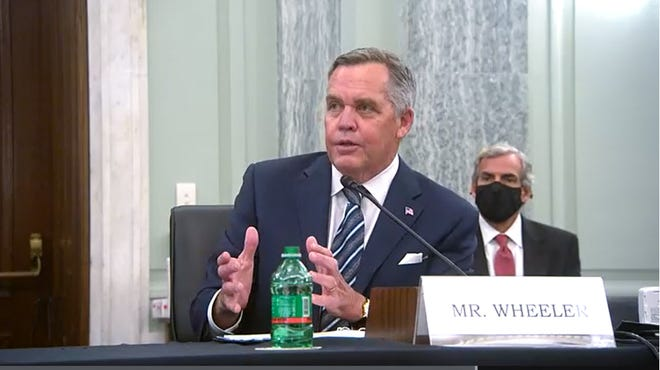 Wesley Wheeler, UPS president of global healthcare, testified Thursday before the U.S. Senate Subcommittee on Transportation and Safety.
