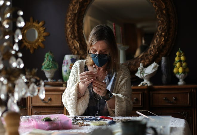 Valerie Long, who sells her jewelry through her ValAndViolet site on Etsy, has seen her Etsy business grow significantly this year.