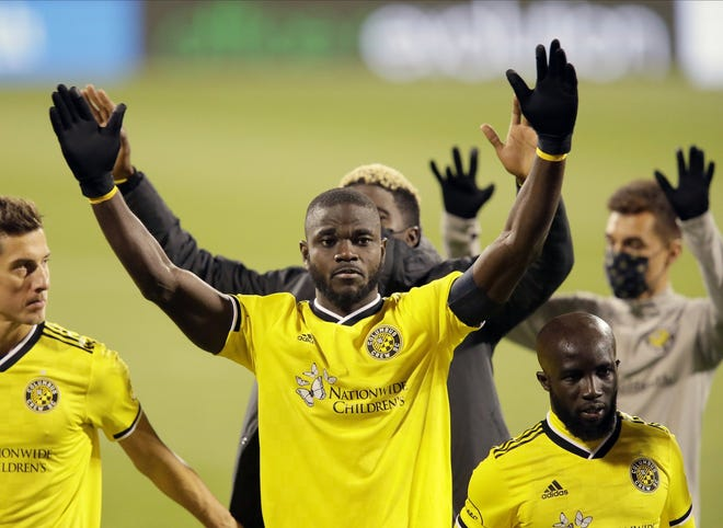 Crew center back Jonathan Mensah has elevated his game and become captain since Caleb Porter took over as coach in 2019.