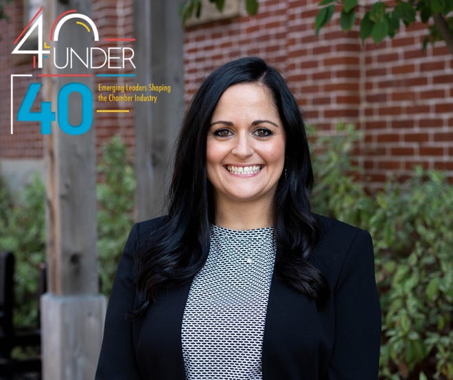 Samira Zimmerly, president of the Wooster Area Chamber of Commerce, was chosen as one of 40 chamber leaders honored in the Association of Chamber of Commerce Executives' 40 under 40 program.