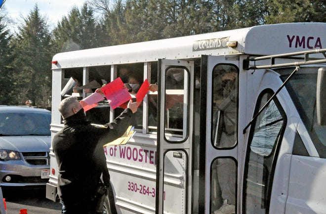 """A YMCA bus full of kids with notes for Matt Cruise came to wish him well prompting Cruise to say, """"You are going to make me cry, and I won't be able to talk."""""""