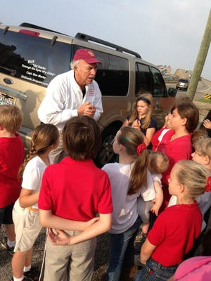 Capt. Ben loves to share Jesus with everyone, especially the children.