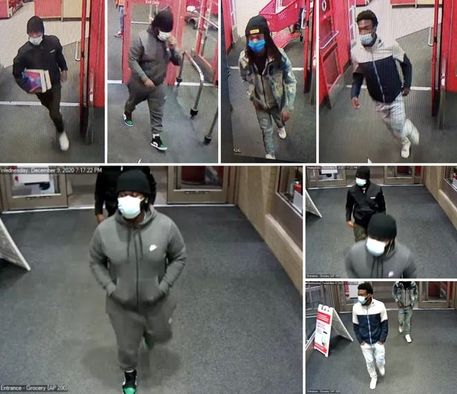 Police are searching for these suspects who allegedly stole $3,300 in Apple Ipads from the Target located at 1033 Crossings Blvd. in Spring Hill, Tenn, on Wednesday, Dec. 8, 2020.