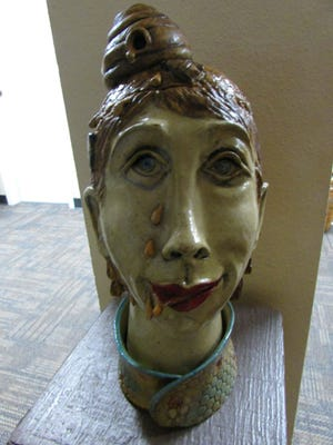 "Ceramic by Linda Ross, ""Beatrice"""