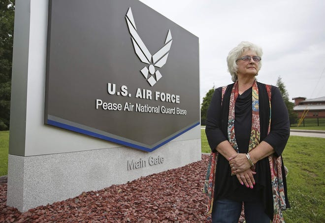 Doris Brock's husband Kendall Brock, a 35-year former member of the 157th Air Refueling Wing of the N.H. Air National Guard at Pease, died from bladder and prostate cancer in 2017.