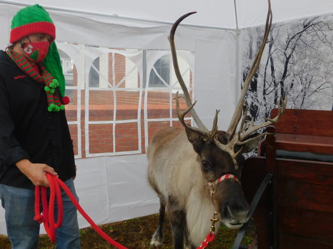 The Denison Public Library host a special guest Friday when Blitzen, The Reindeer arrived to take photos with children and families.