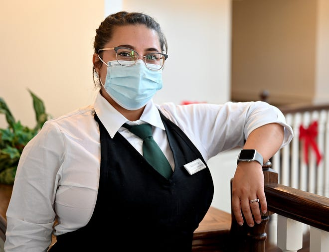 Amanda Williams is associate dining room manager at New Horizons in Marlborough.