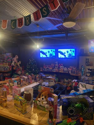 Tj's Food and Spirits in Portsmouth recently held its seventh annual Toys for Tots drive.