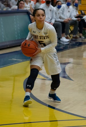 Kent State junior point guard Mariah Modkins scored a career-high 16 points in Saturday's win at Eastern Michigan.