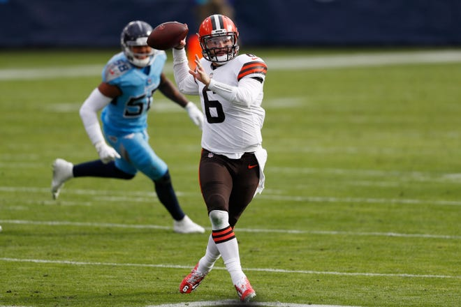 Quarterback Baker Mayfield and the Cleveland Browns continue their playoff push Monday night when they host the Baltimore Ravens.