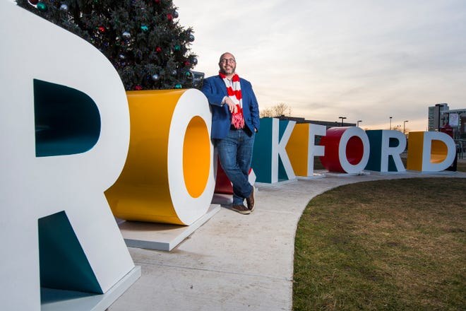 John Groh, the president of the Rockford Area Convention & Visitors Bureau, poses for a portrait at Davis Park on Thursday, Dec. 10, 2020, in Rockford. The RACVB is a finalist for the Register Star's 2020 Excelsior Award. The award has been given each year since 1979 to an organization that exemplifies community service and excellence, and that works to make a difference in the Rock River Valley.