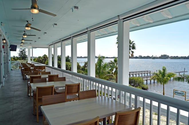 Located on the same Evie's at Spanish Point property in Osprey that houses a separate tiki bar and restaurant, the three-floor The Point features a waterfront view of Little Sarasota Bay.