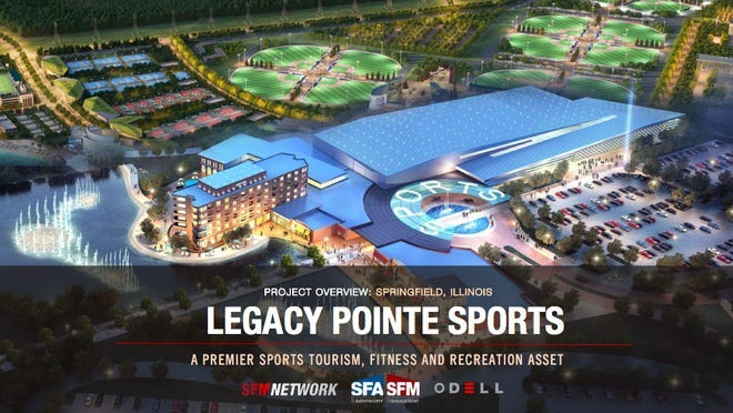 A rendering of a possible sports complex at the Legacy Pointe development in Springfield.