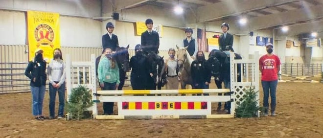 Members of the Black Hawk College hunt seat equestrian team competed by submitted video this fall. The team had champions in three divisions.