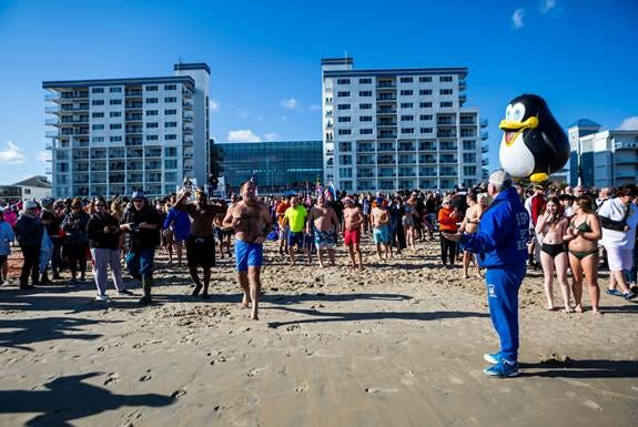 Atlantic General Hospital's 27th annual Penguin Swim is set for 1 p.m. Jan. 1 on the beach at The Princess Royale Oceanfront Hotel, 9100 Coastal Highway, Ocean City, Maryland.