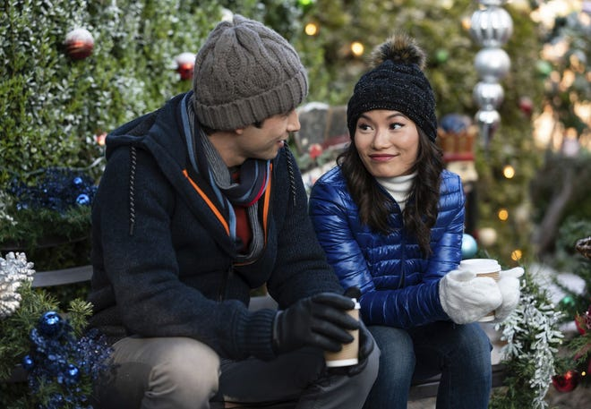 """Jacky Lai, right, and Tony Giroux appear in """"A Sugar & Spice Holiday."""""""
