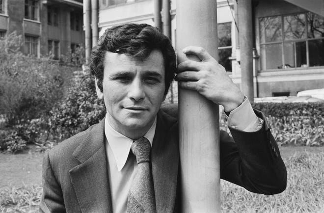 """Peter Falk played the rumpled detective in """"Columbo."""""""