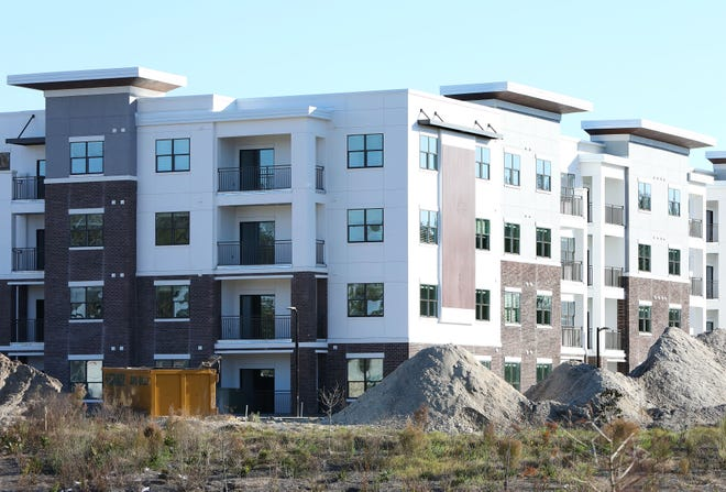 Construction continues at the Nobel on Newberry apartment complex, on the corner of West Newberry Road and SW 122nd Street, west of Gainesville.