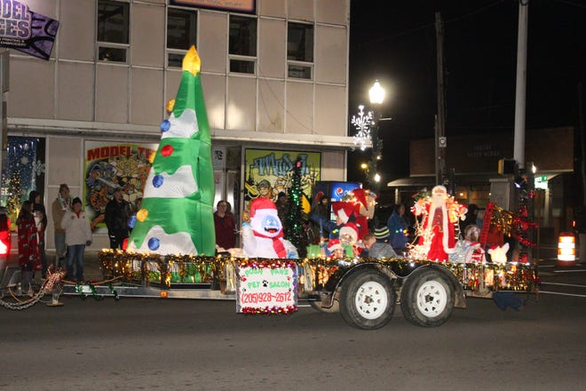 Pictured is one of the floats in the Centre Christmas Parade, which was held Dec. 1.