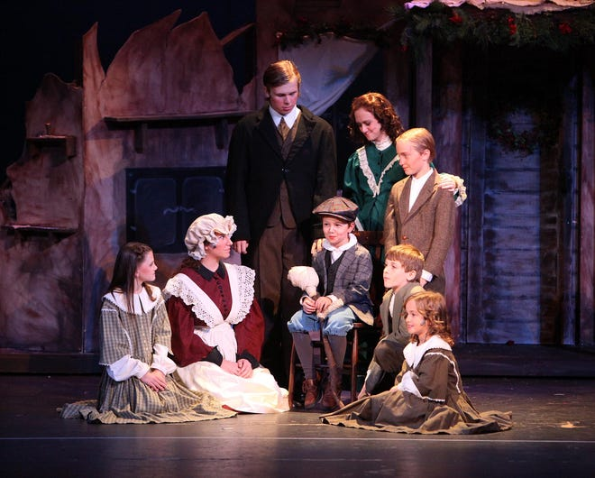 """Members of the Tuscaloosa Childern's Theatre perform """"A Christmas Carol"""" at the Bama Theatre in this 2009 file photo. [Staff file photo]"""