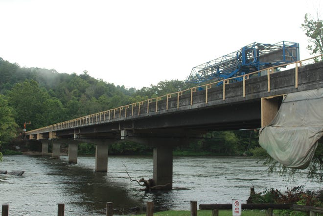 """Repair work to the Barnard Bridge, photographed here in August 2019, is slated for completion by """"late January or early February,"""" according to NCDOT."""