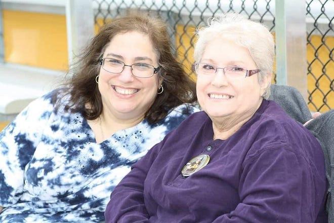 Johnson Middle School teacher Elizabeth Toro with her mother, Maria Morales.