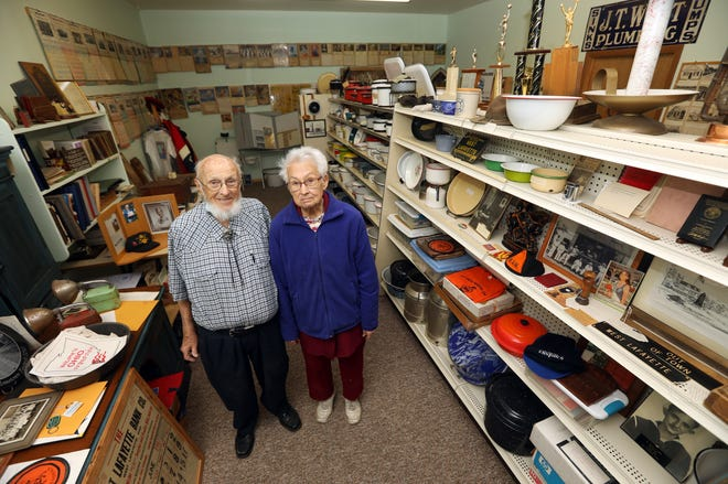 Dan and June Markley run the West Lafayette Museum on West Main Street. The museum houses a wide selection of West Lafayette history, from pictures to enamel ware.