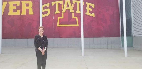 Christine at her alma mater Iowa State University in 2019.