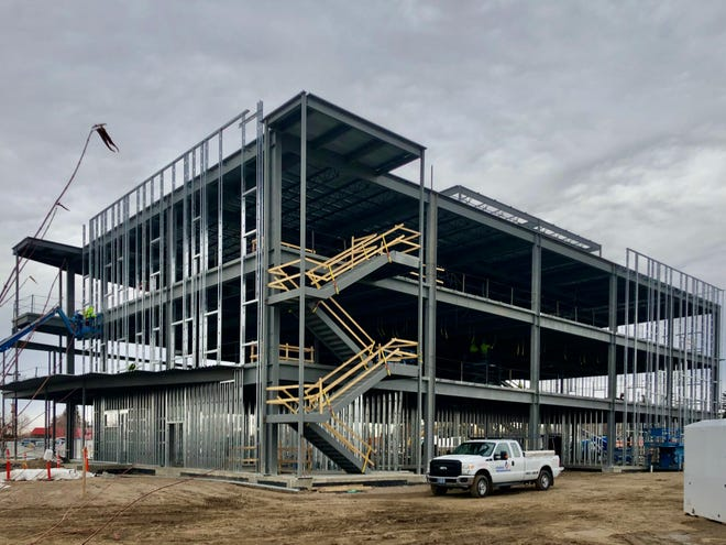 Construction is ahead of schedule on the Benefis Women's and Children's Center, which is scheduled to open in December 2021.