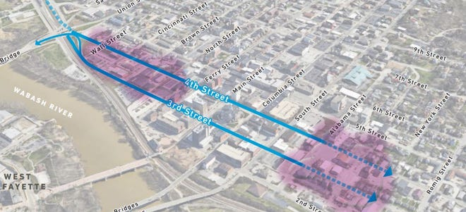 A feasibility study published Dec. 8, 2020, looks at the possibilities of turning Third and Fourth streets back into two-way traffic between Union and Alabama streets.