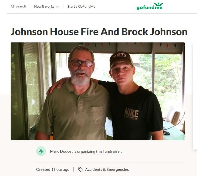 A GoFundMe has been created for the family of Brock Johnson. Johnson was killed in a fire and his family's home was destroyed.