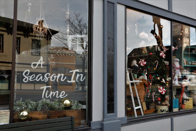 A Season in Time, located at the corner of Main and Columbus streets in Downtown Lancaster, is all dressed up for the holidays.
