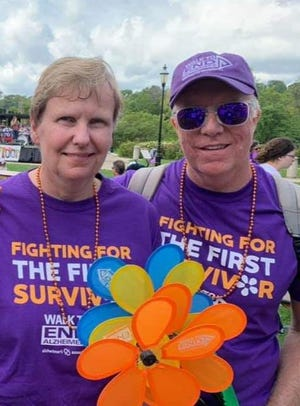 Dave and Paula Hoag of Sussex participated in the 2019 Walk to End Alzheimer's. Paula, left, who is 61, was diagnosed with early onset dementia at age 51.