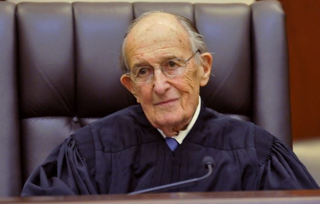 Retired Alabama Supreme Court Justice Hugh Maddox during the Investiture ceremonies at the Alabama Supreme Court on  Jan. 11, 2013.