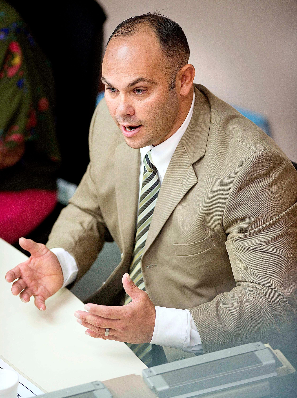 Former Crestview Police Maj. Joseph Floyd testifies during his 2013 racketeering trial.