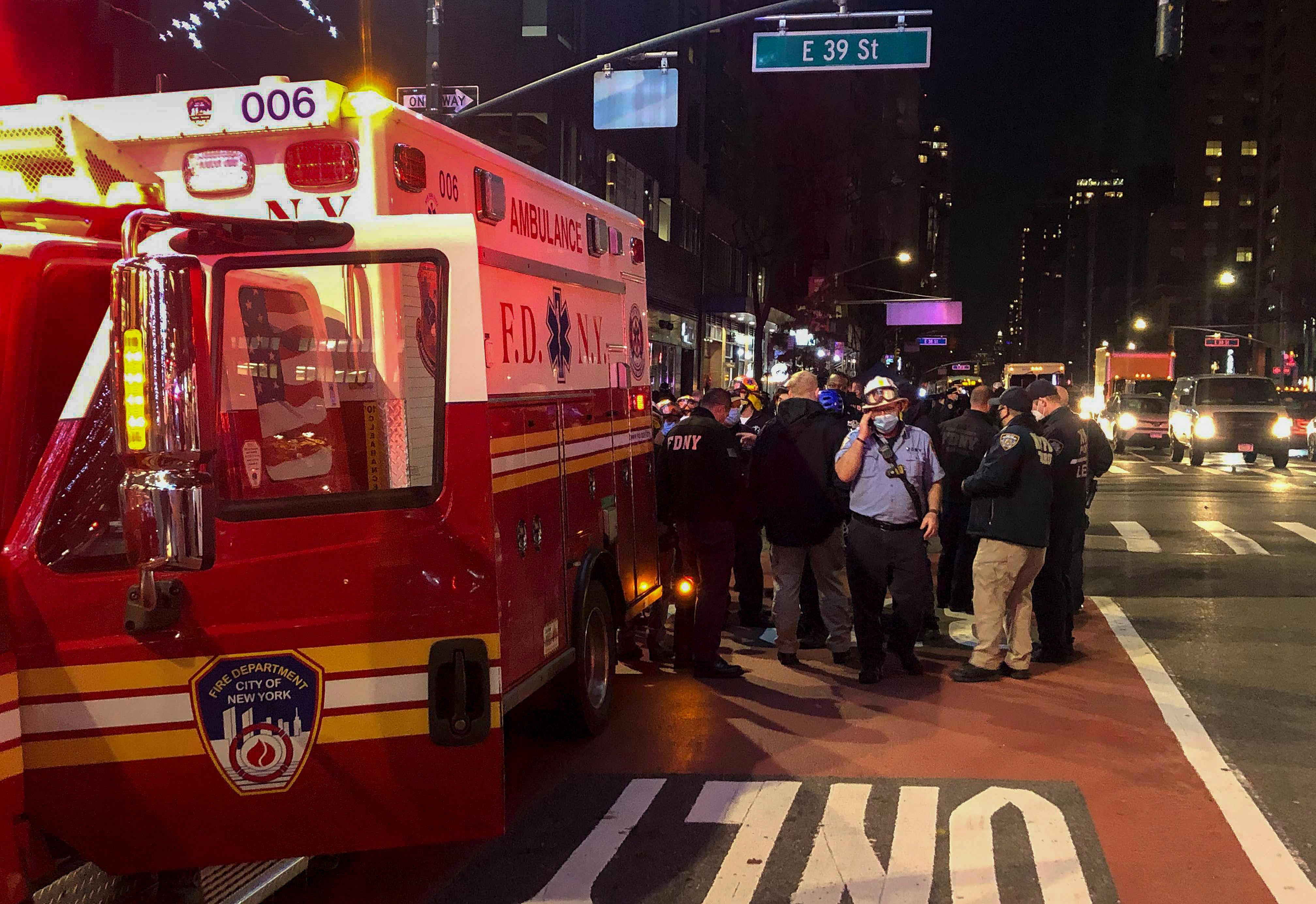 I see bodies flying : Protesters in New York City struck by car; 6 injured